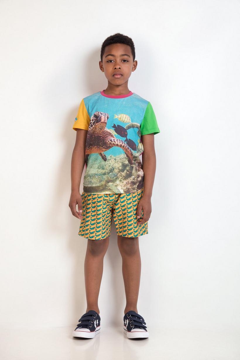 Oranje zwemshort - met print, ZulupaPUWA - Zulu Papuwa